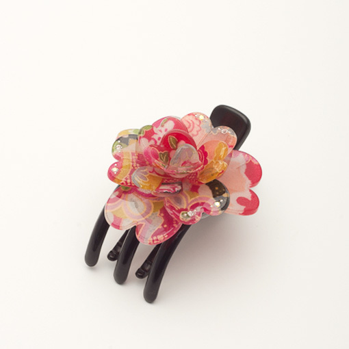 3 Toothed Flower Hair Clamp